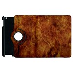 Abstract Flames Fire Hot Apple iPad 3/4 Flip 360 Case