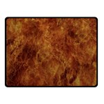Abstract Flames Fire Hot Double Sided Fleece Blanket (Small)