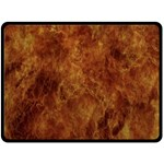 Abstract Flames Fire Hot Double Sided Fleece Blanket (Large)