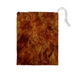 Abstract Flames Fire Hot Drawstring Pouches (Large)