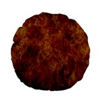 Abstract Flames Fire Hot Standard 15  Premium Flano Round Cushions