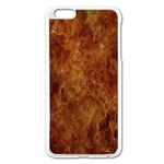 Abstract Flames Fire Hot Apple iPhone 6 Plus/6S Plus Enamel White Case