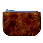 Abstract Flames Fire Hot Large Coin Purse