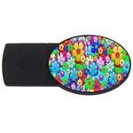 Flowers Ornament Decoration USB Flash Drive Oval (4 GB)