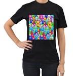 Flowers Ornament Decoration Women s T-Shirt (Black)