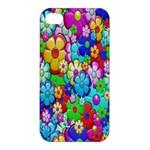 Flowers Ornament Decoration Apple iPhone 4/4S Premium Hardshell Case