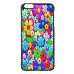 Flowers Ornament Decoration Apple iPhone 6 Plus/6S Plus Black Enamel Case