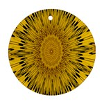 Pattern Petals Pipes Plants Ornament (Round)