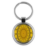 Pattern Petals Pipes Plants Key Chains (Round)