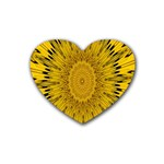 Pattern Petals Pipes Plants Rubber Coaster (Heart)