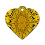 Pattern Petals Pipes Plants Dog Tag Heart (Two Sides)