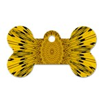 Pattern Petals Pipes Plants Dog Tag Bone (One Side)
