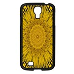 Pattern Petals Pipes Plants Samsung Galaxy S4 I9500/ I9505 Case (Black)