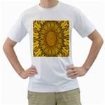 Pattern Petals Pipes Plants Men s T-Shirt (White)