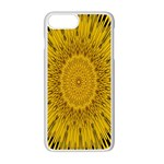 Pattern Petals Pipes Plants Apple iPhone 7 Plus Seamless Case (White)