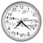 Abuse Background Monochrome My Bits Wall Clocks (Silver)
