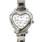 Abuse Background Monochrome My Bits Heart Italian Charm Watch