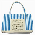 Abuse Background Monochrome My Bits Striped Blue Tote Bag