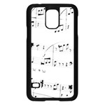 Abuse Background Monochrome My Bits Samsung Galaxy S5 Case (Black)
