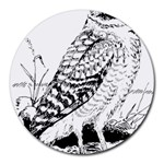 Animal Bird Forest Nature Owl Round Mousepads
