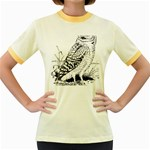 Animal Bird Forest Nature Owl Women s Fitted Ringer T-Shirts