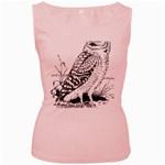 Animal Bird Forest Nature Owl Women s Pink Tank Top