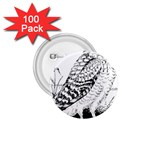 Animal Bird Forest Nature Owl 1.75  Buttons (100 pack)