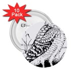 Animal Bird Forest Nature Owl 2.25  Buttons (10 pack)