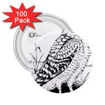 Animal Bird Forest Nature Owl 2.25  Buttons (100 pack)
