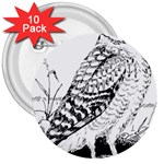Animal Bird Forest Nature Owl 3  Buttons (10 pack)