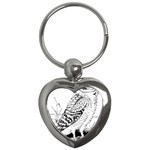 Animal Bird Forest Nature Owl Key Chains (Heart)
