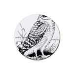 Animal Bird Forest Nature Owl Rubber Round Coaster (4 pack)
