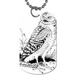 Animal Bird Forest Nature Owl Dog Tag (One Side)