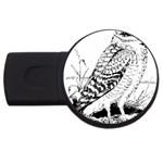 Animal Bird Forest Nature Owl USB Flash Drive Round (2 GB)