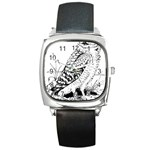 Animal Bird Forest Nature Owl Square Metal Watch