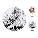 Animal Bird Forest Nature Owl Playing Cards (Round)