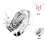 Animal Bird Forest Nature Owl Playing Cards (Heart)