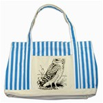 Animal Bird Forest Nature Owl Striped Blue Tote Bag