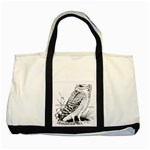 Animal Bird Forest Nature Owl Two Tone Tote Bag