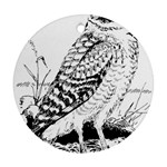 Animal Bird Forest Nature Owl Round Ornament (Two Sides)