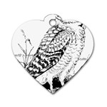 Animal Bird Forest Nature Owl Dog Tag Heart (One Side)