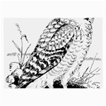 Animal Bird Forest Nature Owl Large Glasses Cloth (2-Side)