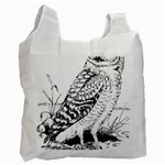 Animal Bird Forest Nature Owl Recycle Bag (Two Side)