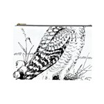 Animal Bird Forest Nature Owl Cosmetic Bag (Large)