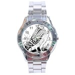 Animal Bird Forest Nature Owl Stainless Steel Analogue Watch