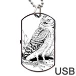 Animal Bird Forest Nature Owl Dog Tag USB Flash (Two Sides)