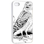 Animal Bird Forest Nature Owl Apple iPhone 4/4s Seamless Case (White)