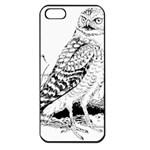 Animal Bird Forest Nature Owl Apple iPhone 5 Seamless Case (Black)