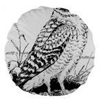 Animal Bird Forest Nature Owl Large 18  Premium Round Cushions