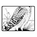 Animal Bird Forest Nature Owl Double Sided Fleece Blanket (Small)
